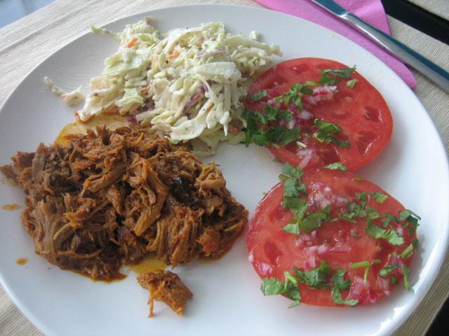 gluten-free pulled pork dinner